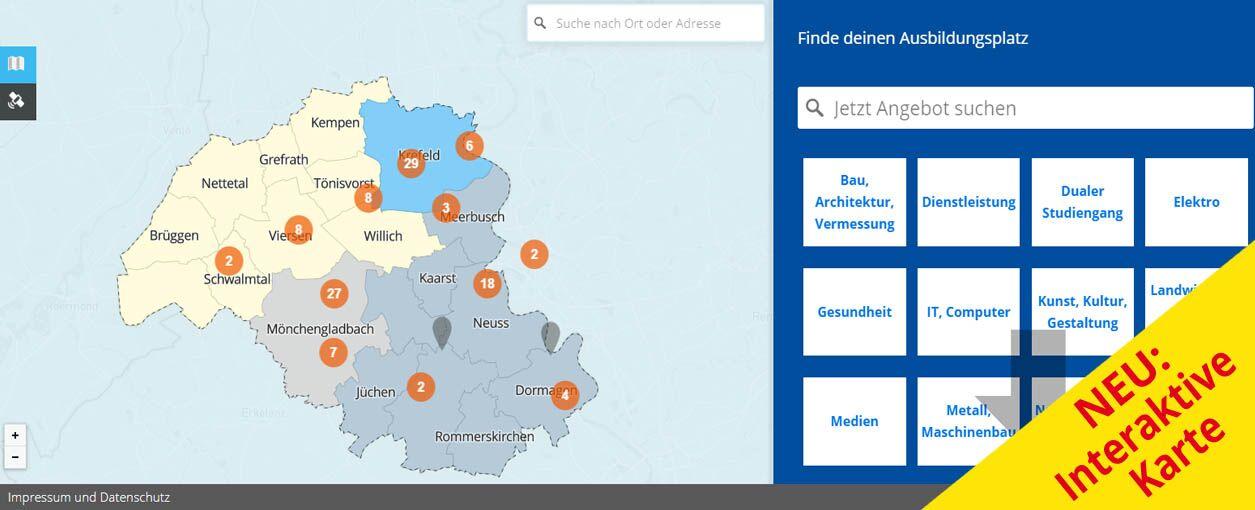 Checkin Berufswelt - Karte